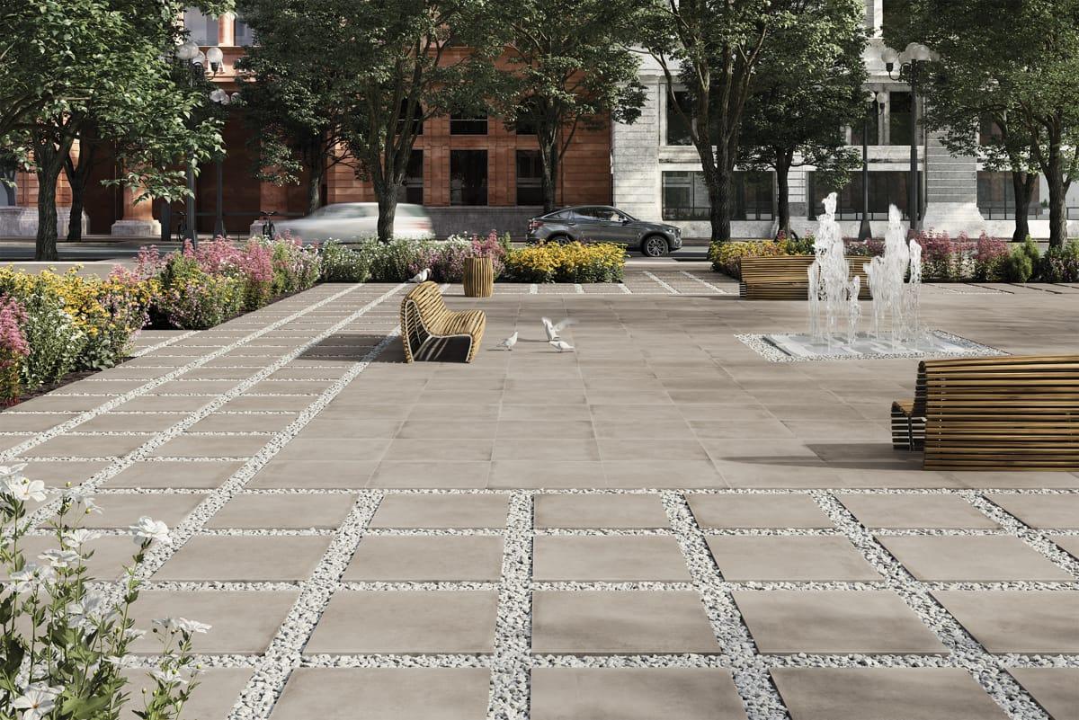 AMBIENTE Brooklyn Beige 75x75 20 mm Exterior Plaza